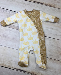 Champagne Gold Faux Glitter Cotton Lycra