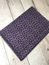 Load image into Gallery viewer, Purple Leopard Polyester Interlock