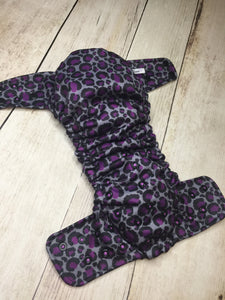 Purple Leopard Polyester Interlock