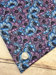 Poppies Polyester Interlock