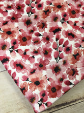 Load image into Gallery viewer, Water color Floral Cherry Stretch Minky