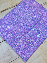 Load image into Gallery viewer, Light Purple Faux Glitter Cotton Spandex
