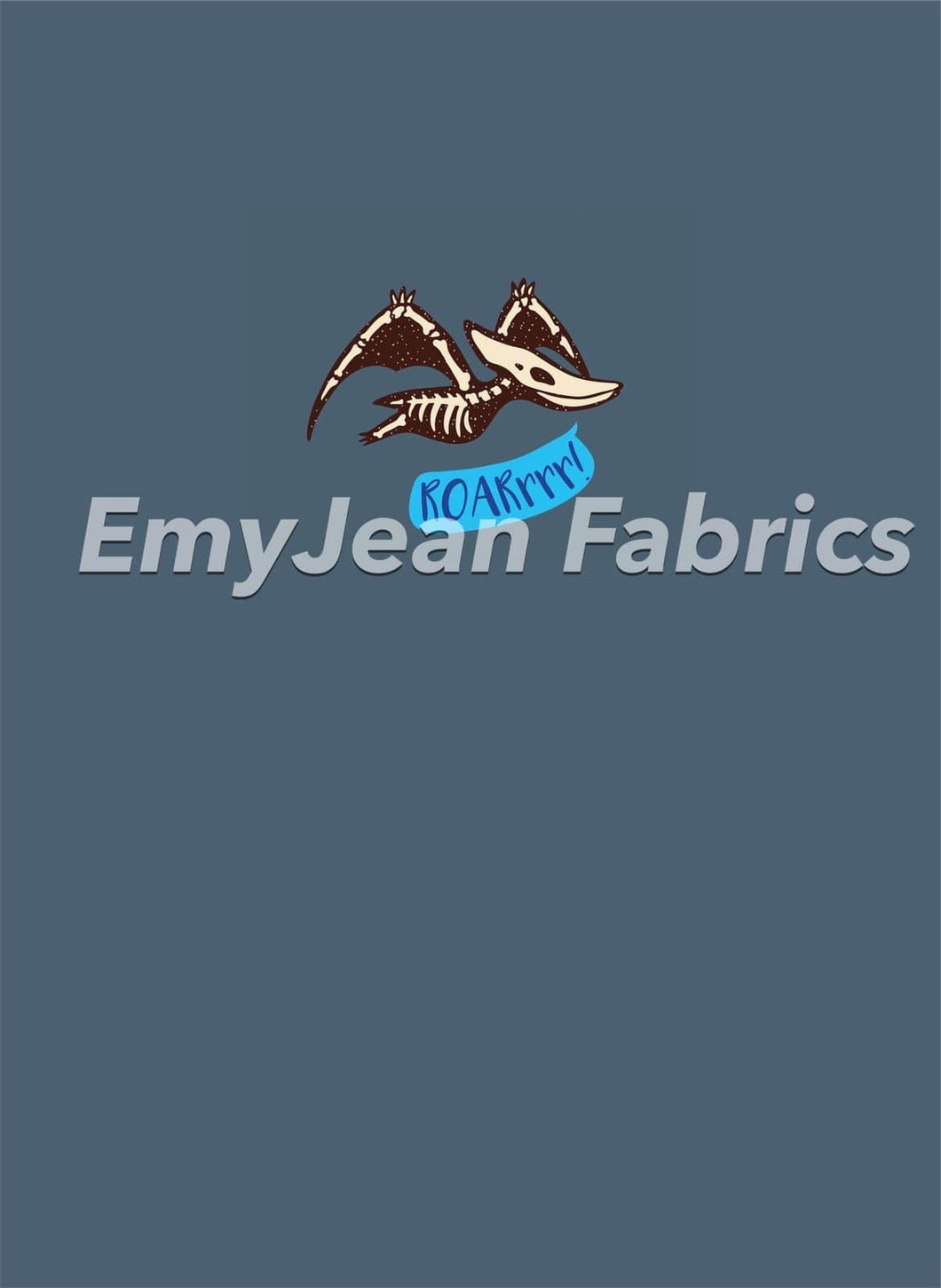 Pterodactyl Cotton Spandex Panel