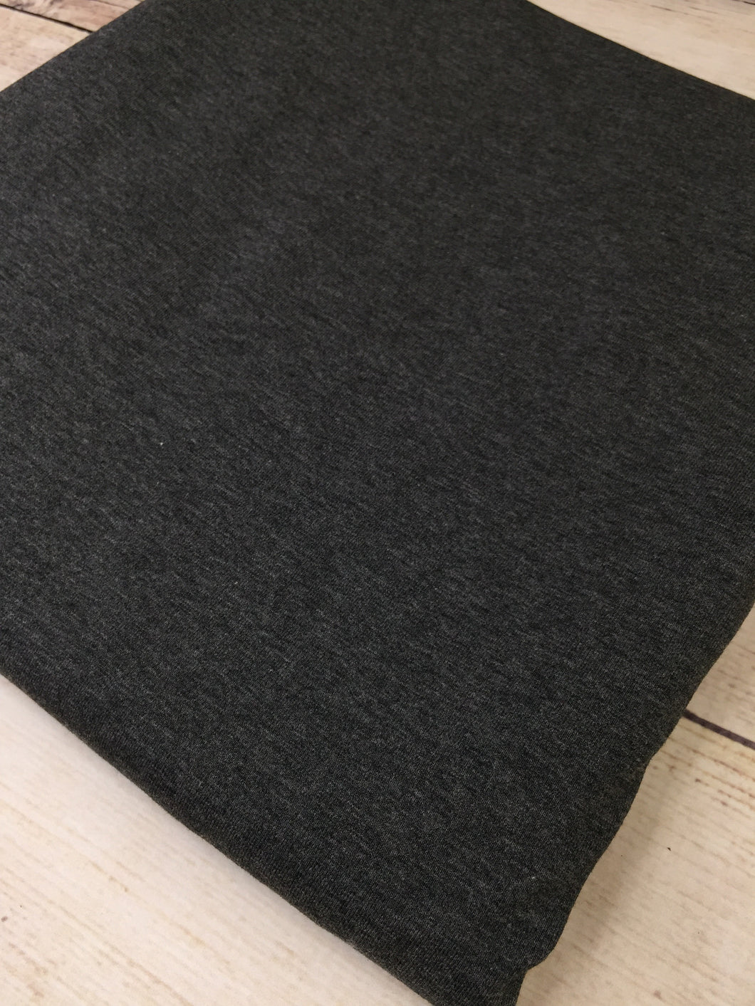 Charcoal Cotton Lycra Jersey 12oz