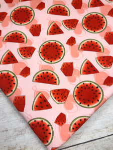 Pink Watermelon Slices Bamboo Lycra