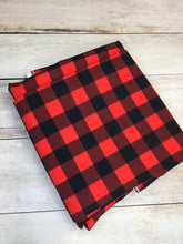 Load image into Gallery viewer, Red Buffalo Plaid Cotton Lycra