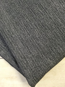 Charcoal Grey Faux Denim Cotton Spandex