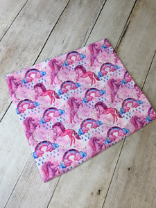 Cotton Candy Unicorns Polyester Interlock