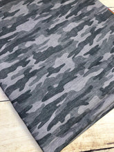 Load image into Gallery viewer, Grey Camo French Terry