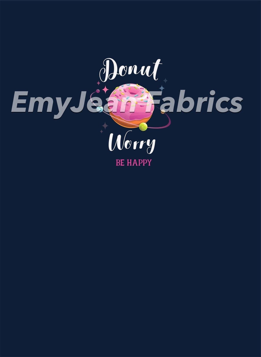 Donut Worry Cotton Spandex Panel