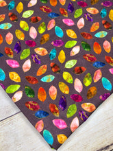Load image into Gallery viewer, Stained Glass Leaves single Purple Cotton Spandex
