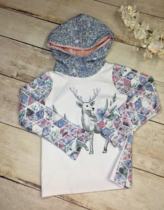 Clearance Winter Deer Cotton Spandex Panel