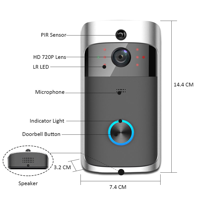 Smart Wireless Security DoorBell HD