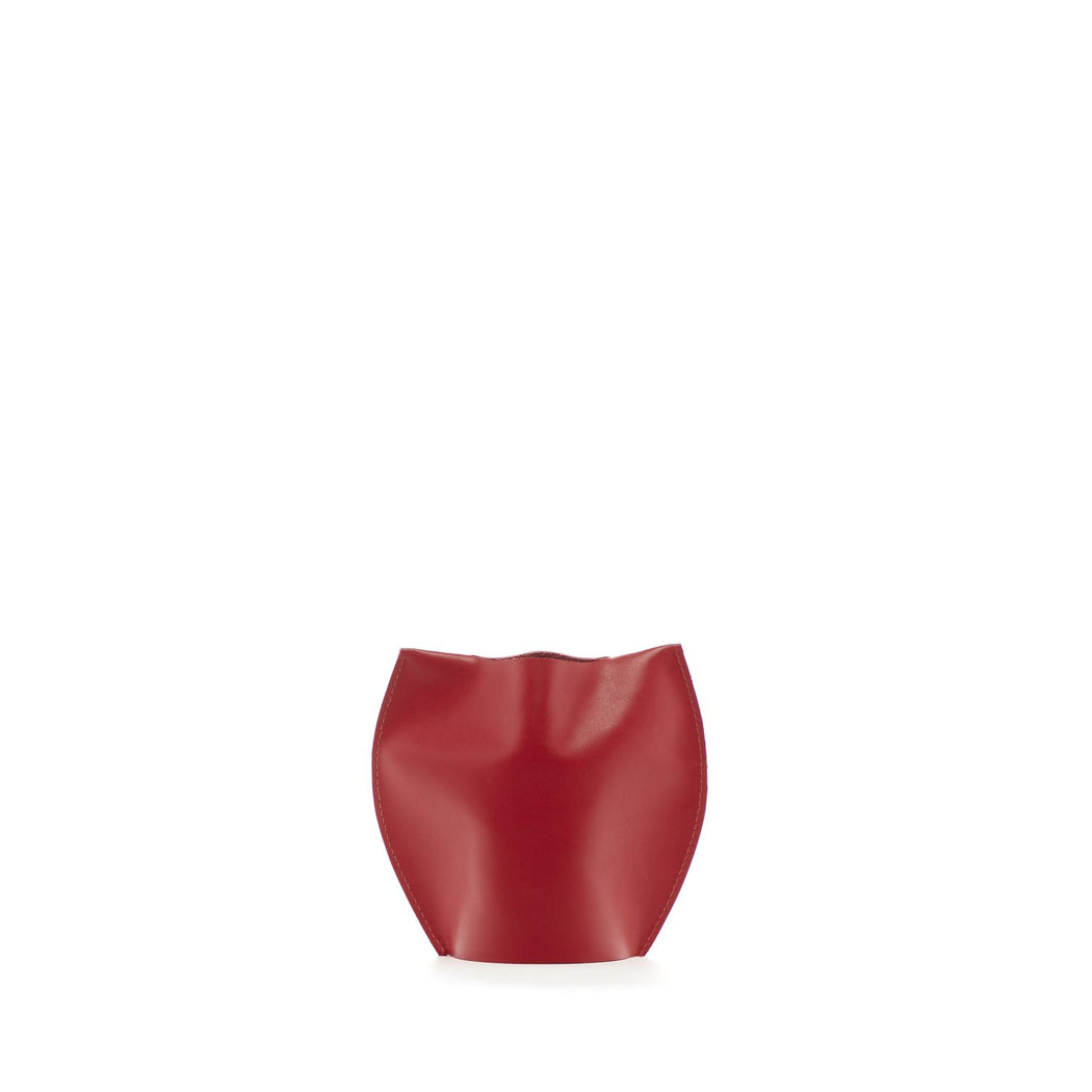 Bana 1 Single Short Leather Vase   Vase - Graf Lantz