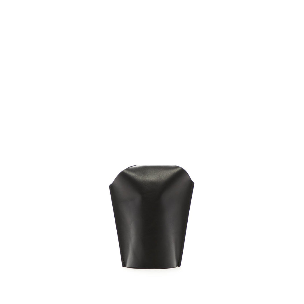 Bana 2 Double Short Leather Vase  1