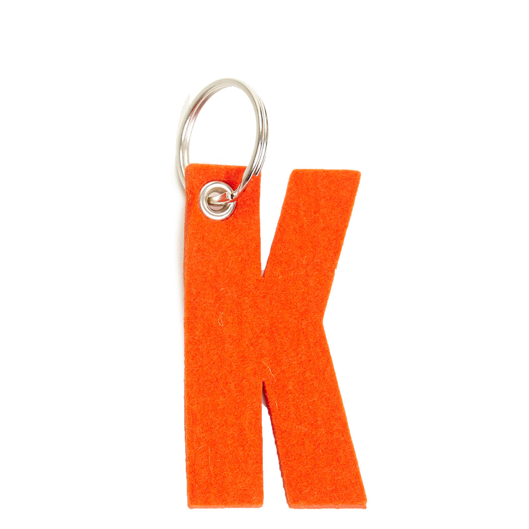 Alphabet Key Fob Letter K   Key and Bag Accessories - Graf Lantz