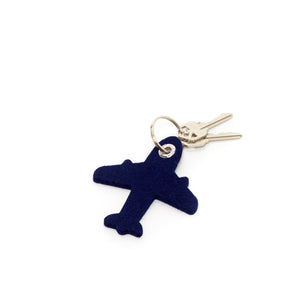 Key Fob Airplane Felt