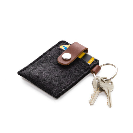 Key Card Case Felt Charcoal 1