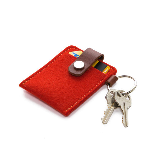Key Card Case Felt Orange 1