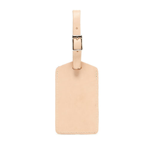 Rectangle Travel Tag Natural Leather 1
