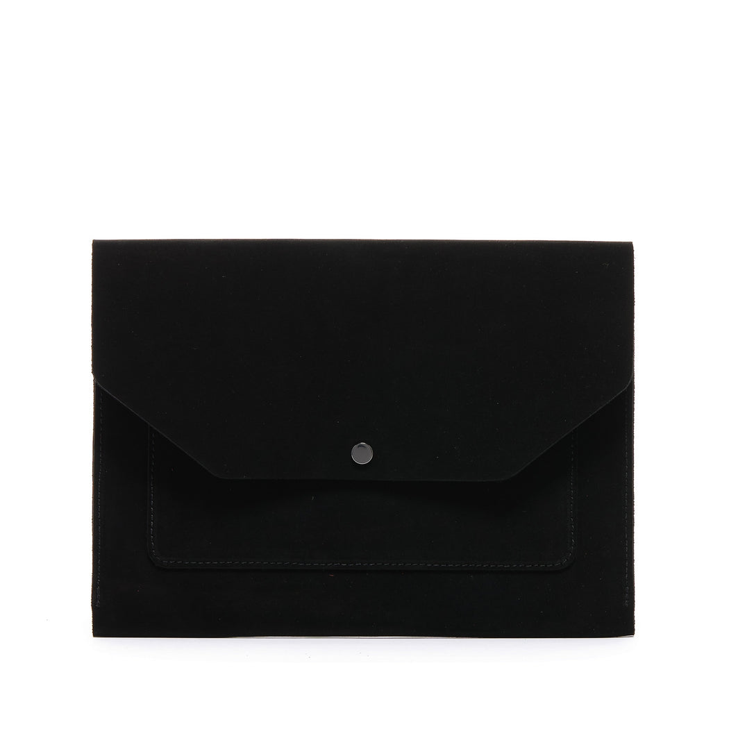 Yuso Laptop Folio Suede   Leather Accessories - Graf Lantz