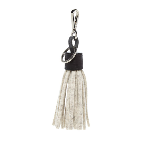 Felt Tassel Heather White 1
