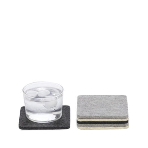 6 Pack Square Felt Coasters