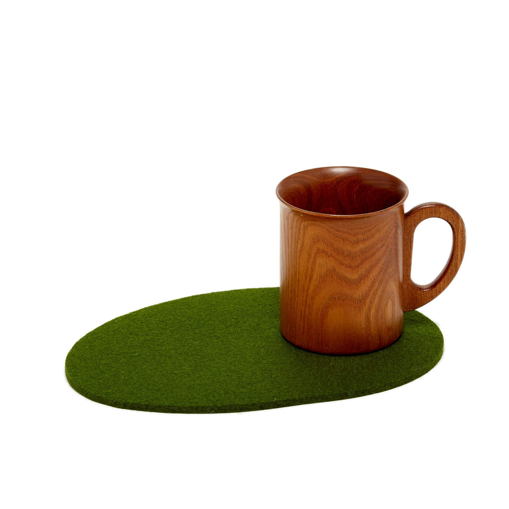 Felt Trivet Stone Medium Loden Green 1