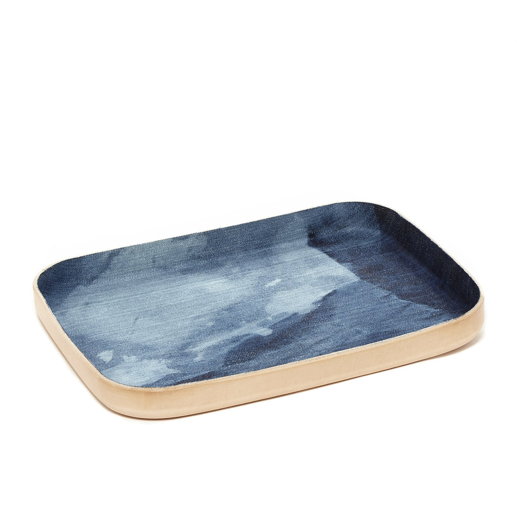 Kawabon Tray Large Washed Denim / Natural 1