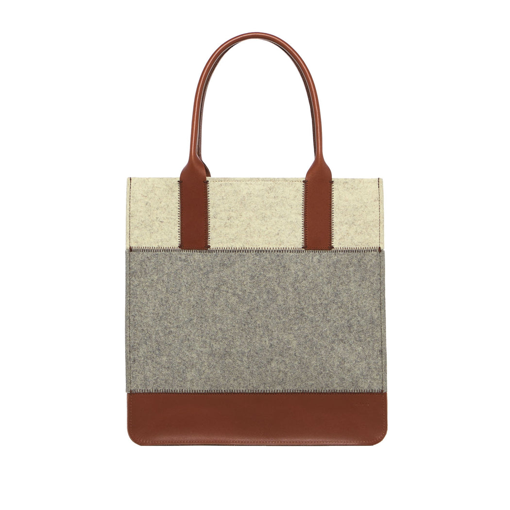 Jaunt Tote Granite and Sienna 1