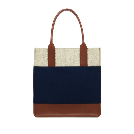Jaunt Tote Marine and Sienna 1