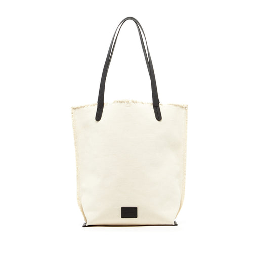 Hana Tote Canvas Natural / Black Leather 1