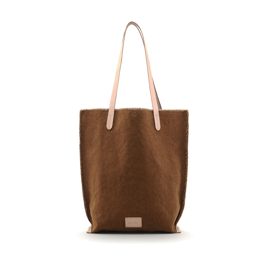 Hana Tote Canvas Mountain / Natural Leather 1