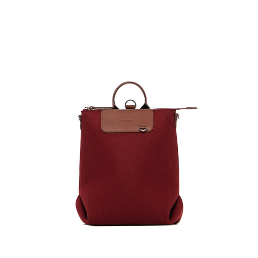 Bedford Backpack Mini Rosewood and Sienna Leather 1