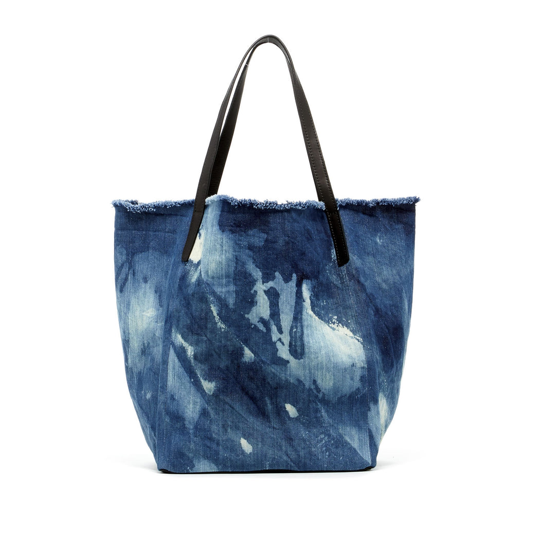 City Tote Washed Denim 1
