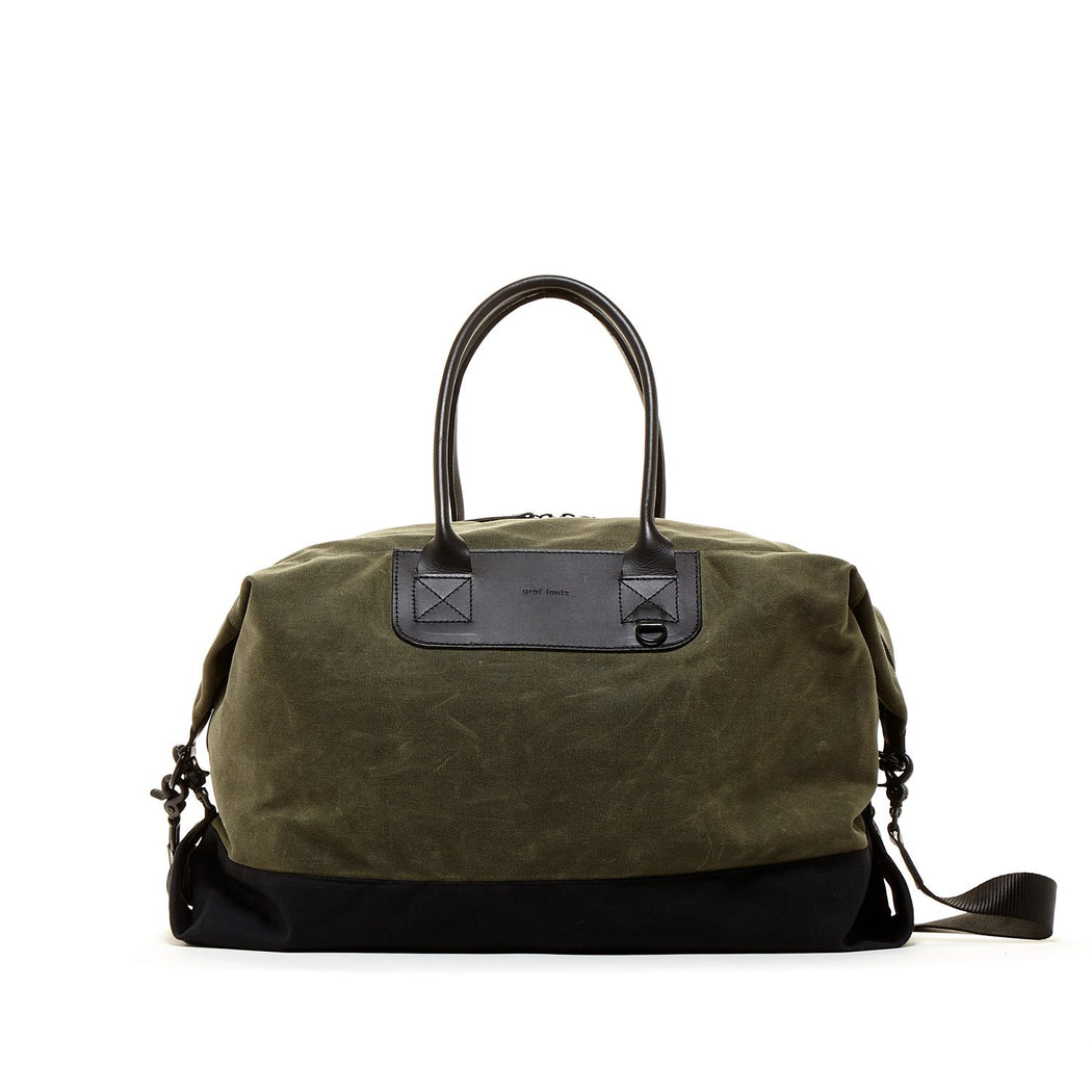 Bedford Weekender Olive / Black Waxed Canvas 1