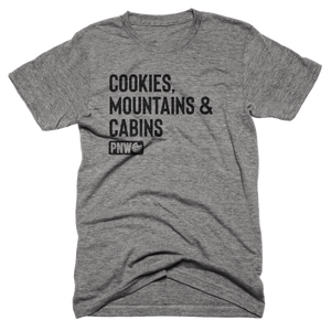 Cookies, Mountains & Cabins Tee - Pacific Northwest Cookie Company