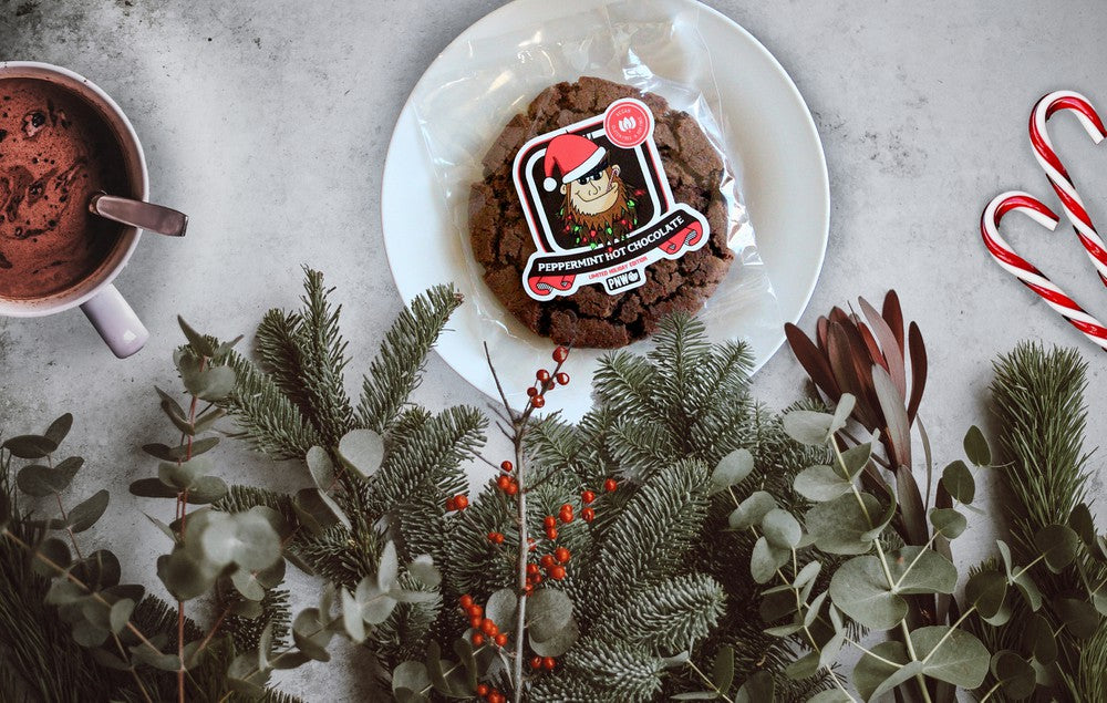 Peppermint Hot Chocolate Cookie | Holiday Edition