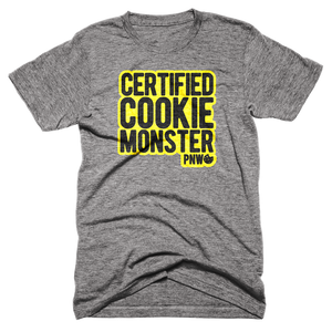 Certified Cookie Monster Tee - Pacific Northwest Cookie Company