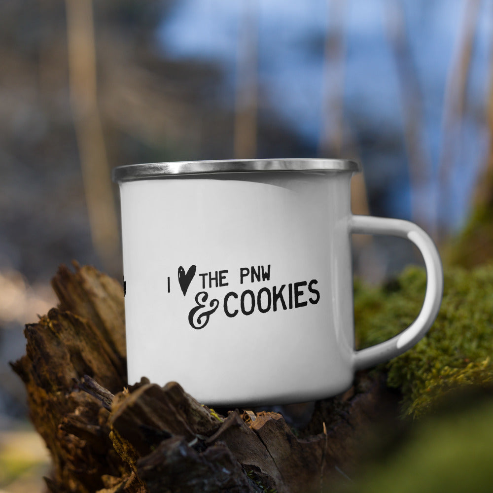 I Heart the PNW & Cookies Enamel Mug