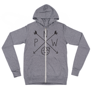 Northwest Cookie Lightweight Zip Hoodie - Pacific Northwest Cookie Company