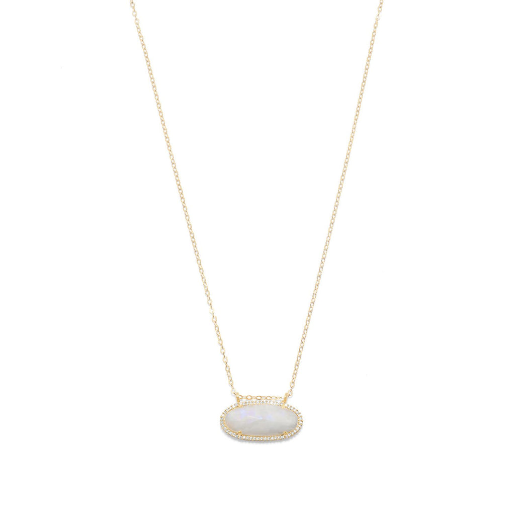 Moonstone Ellipse Necklace