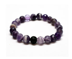 Mens Wellness Intention Gemstone Bracelet