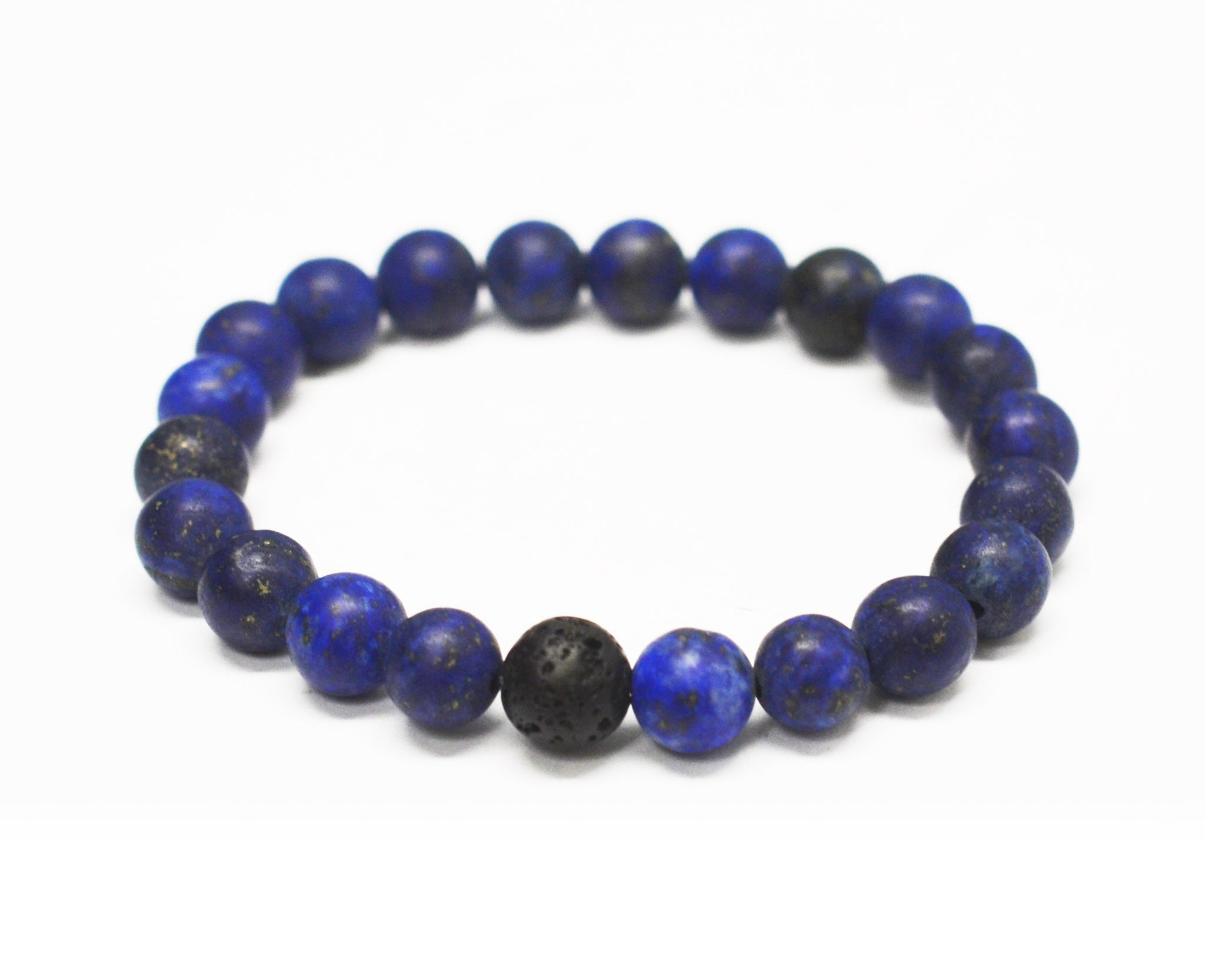 Mens Wisdom Intention Gemstone Bracelet