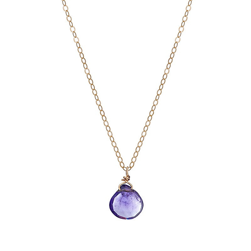 Amethyst Round Pendant Necklace