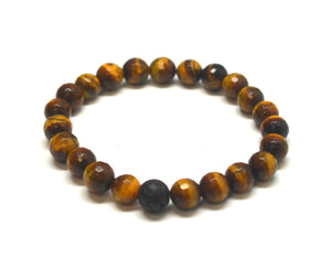 Mens Protection Intention Gemstone Bracelet