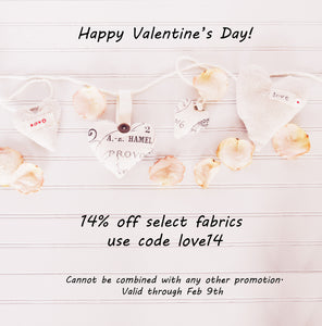 Valentine's Day Fabric Offer :)