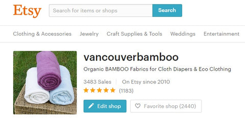 Vancouver Bamboo Reviews on Etsy.com
