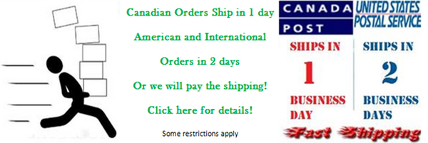 1 or 2 Day Shipment or We Pay Shipping!
