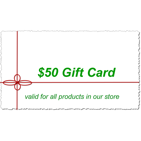 $50 Gift Card Buy Any Product